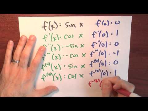 What is the Taylor series for sin x around zero? - Week 6 - Lecture 4 - Sequences and Series