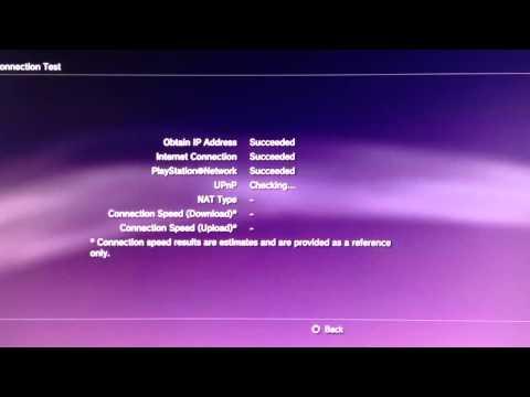 PlayStation 3 Internet Speed Test