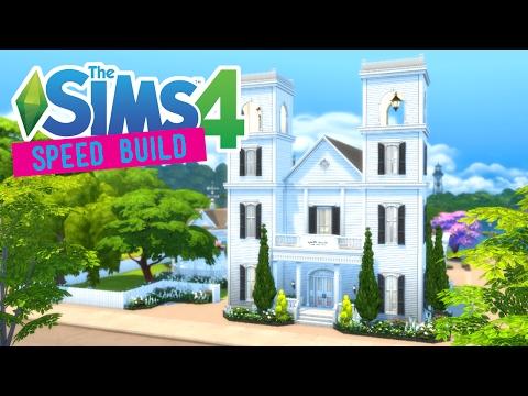 The Sims 4 -Speed Build- New England Wedding Chapel - No CC -
