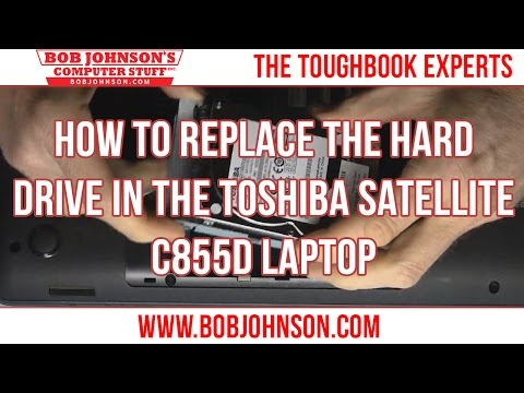 How to replace the Hard Drive in the Toshiba Satellite C855D Laptop