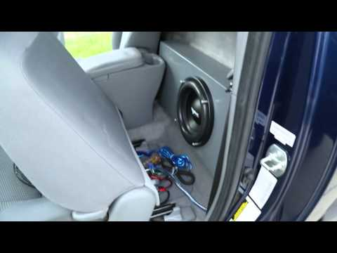 Regular Cab Tacoma Subwoofer Demo