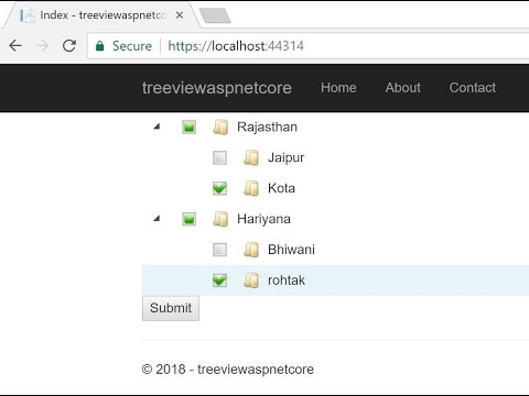 Implement TreeView in ASP.NET CORE