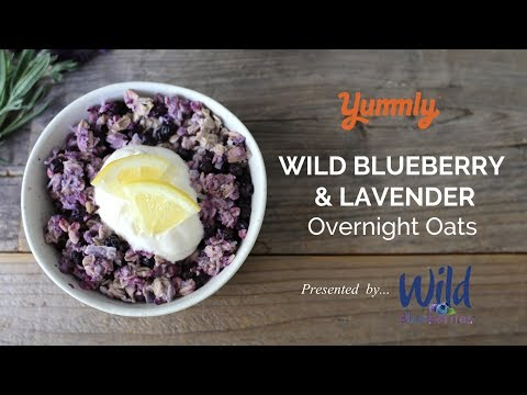 Wild Blueberry-Lavender Overnight Oats with Lemon Crème