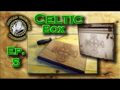 Celtic Walnut Box from Reclaimed Walnut Wood Ep. 5
