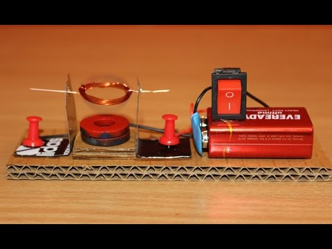 How to Build an Mini Electric Motor - Homemade - Simple Science Experiement