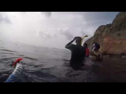 Snorkeling at Foxes Bay, Montserrat WI