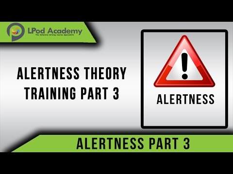 Theory Test Case Study 2018 - Alertness -  Part 3