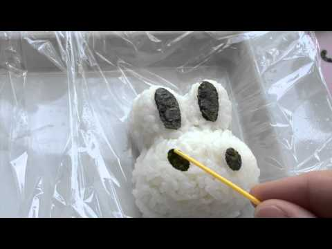 How to make Rabbit Onigiri (rice balls) - cute and nutritious snack for kids!