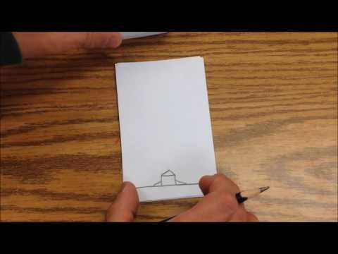 How to make a flip book with paper.Homemade flipbook