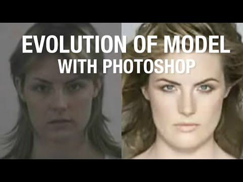 Model Evolution With Makeup And Photoshop