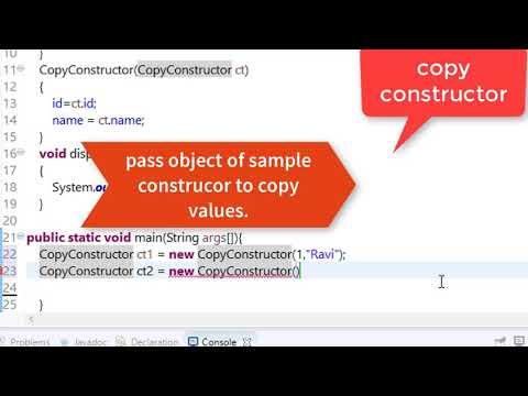 58. copy constructor in java