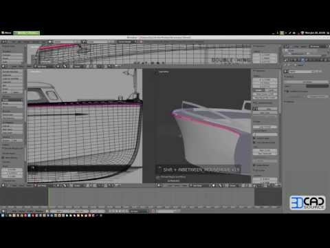 How to model a motor boat in Blender 2.6 part04