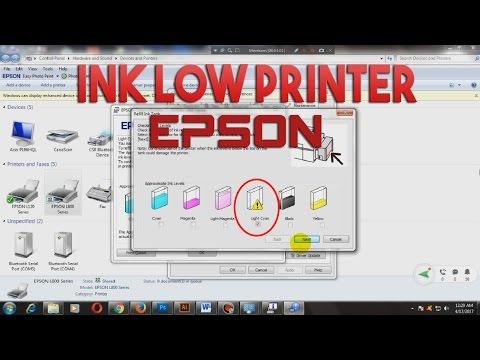 Cara memasukan serial number /ID tinta printer epson (INK LOW)