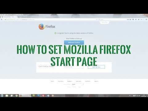 How to set Mozilla Firefox Start Page