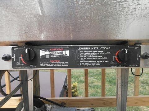 Wilmington Grill Cape Fear Classic Burner Maintenance By KVUSMC