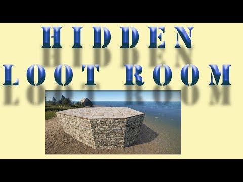 Hidden loot room I Rust base design tutorial I Build 3
