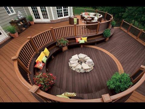 Cool Backyard Wood Deck Ideas