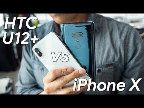 HTC U12+ vs Apple iPhone X first look