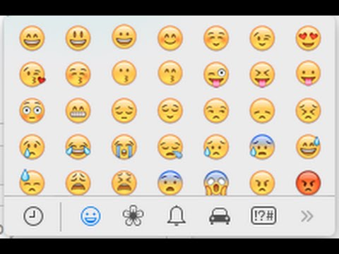 Mac - How to Insert Emojiis With One Click