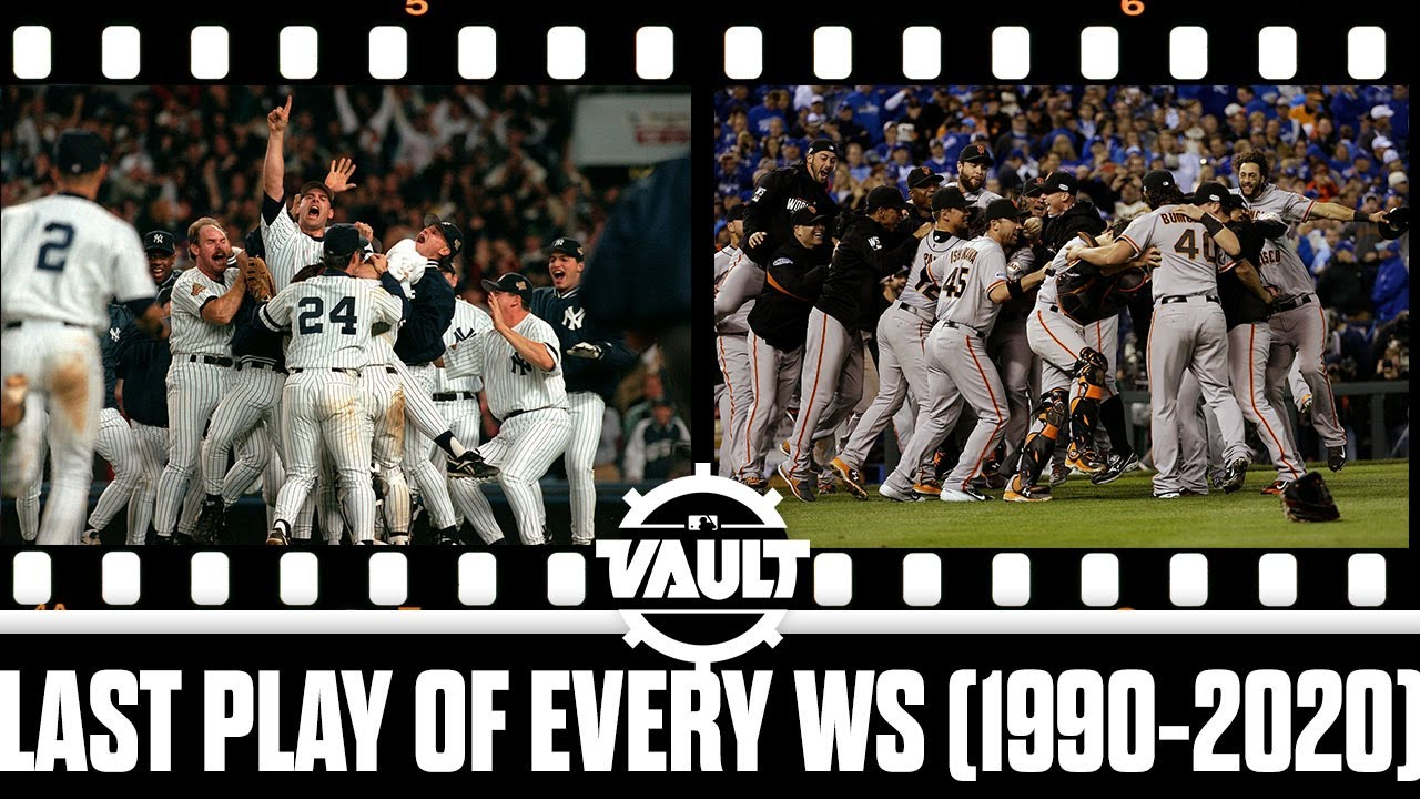 EVERY final play from the World Series from 1990-2020!