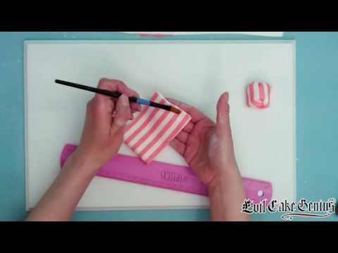 Making A Cake Bow With Our Horizontal Stripes Cake Stencil