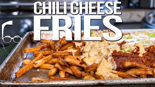 THE BEST (SPICY) CHILI CHEESE FRIES | SAM THE COOKING GUY 4K