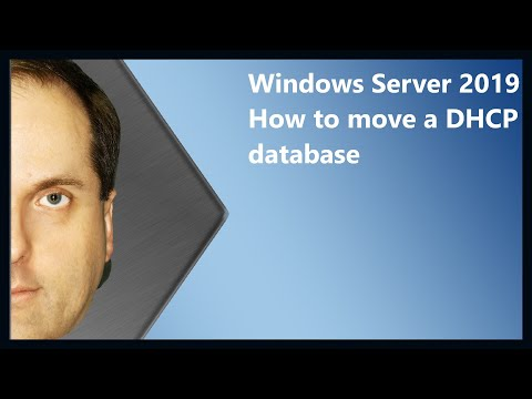 Windows Server 2019 How to move a DHCP database