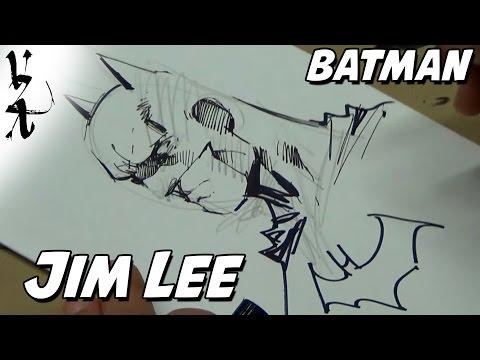 Jim Lee drawing Batman Cover