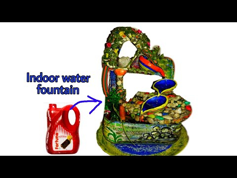 How to make tabletop indoor Water Fountain with 5liter mustard oil jar