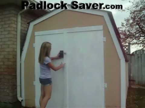 Lock Covers, Opening Shed Door