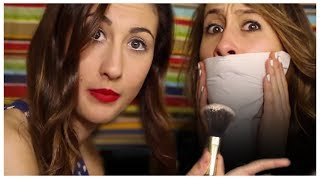 Lipstick Powder Trick Makeup Tutorial with Maybaby and itsLyndsayRae - Makeup Mythbusters