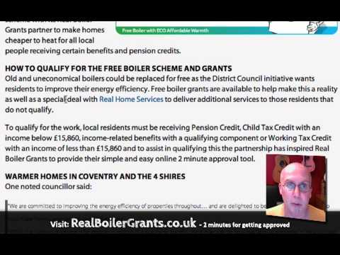 Free boiler scheme Coventry, Midlands and Warwickshire