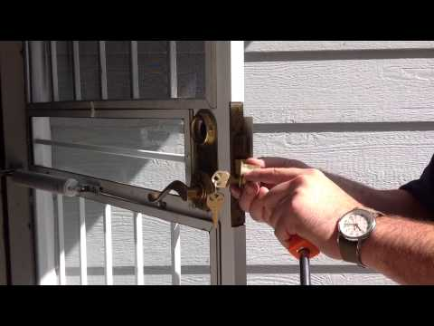 Security gate cylinder removal
