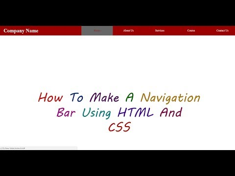 How To Make A Beautiful Navigation Bar For Any Website Using HTML/CSS  In Hindi | Technology Key