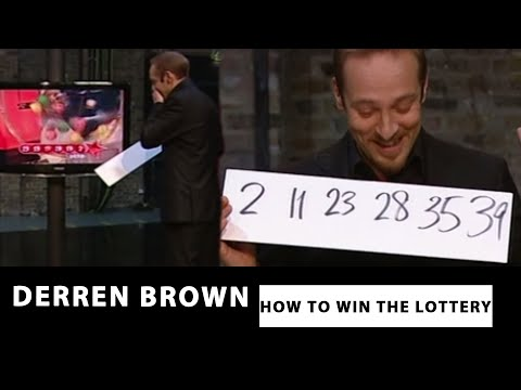 Derren Brown Predicts The Correct Lottery Numbers - How To Win The Lottery
