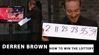 Derren Brown Predicts The Correct Lottery Numbers How To Win The Lott