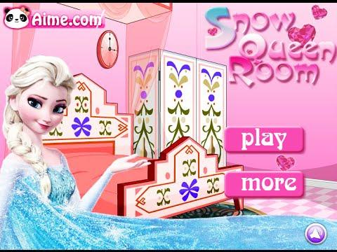 Frozen Elsa Games- Snow Queen Room- Fun Online Interior Design Games for Girls Kids