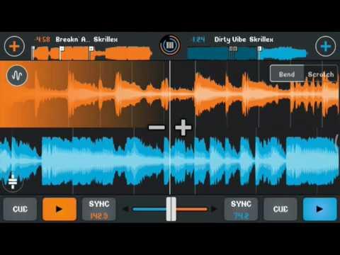 Skrillex - New year mix (Cross Dj android)[Dubstep mix]