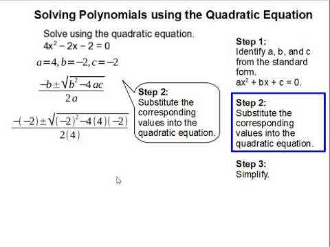 How to Solve Polynomials using the Quadratic Equation