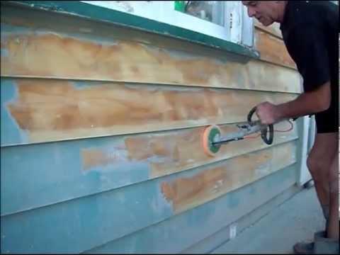 alderson sander stripping weatherboards