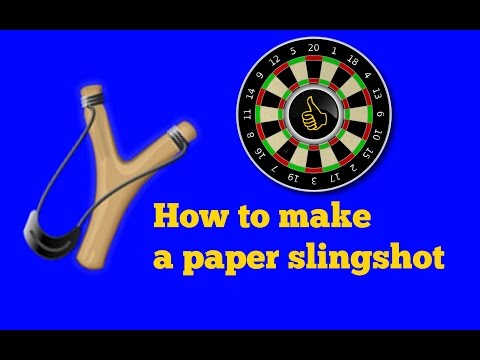 How to make a paper slingshot!  (σφεντονα)