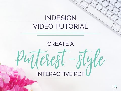 Create a Pinterest-Style Interactive PDF in InDesign