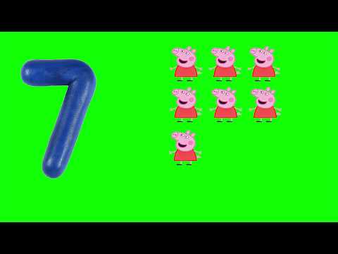 LEARN TO COUNT 1 TO 10 (ONE TO TEN) WITH PEPPA PiG ANIMATION FOR TODDLERS