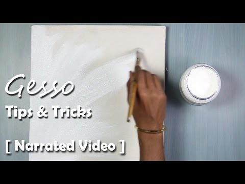 What is Gesso? How to use Gesso on Acrylic Painting! step by step Narrated Video