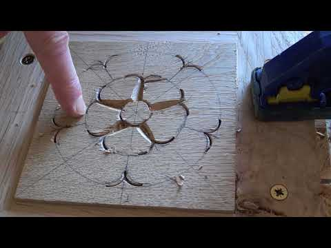 Carving a Tudor Rose with the Bodgers
