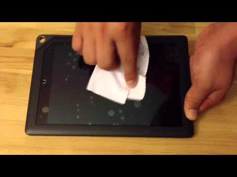 How not to install a screen protector on a nook HD+ 9