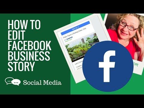 How to Edit Story / About on Facebook Business Page