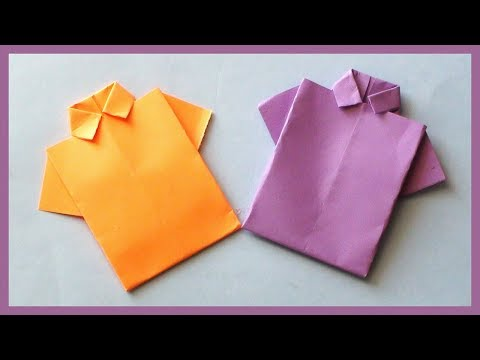 DIY Paper Shirt Origami | How to Make Shirt with Paper