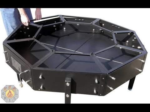Octagonal Jag Grill BBQ Table