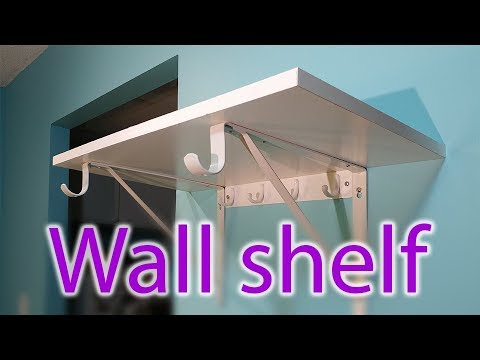 Rubbermaid wall shelf installation